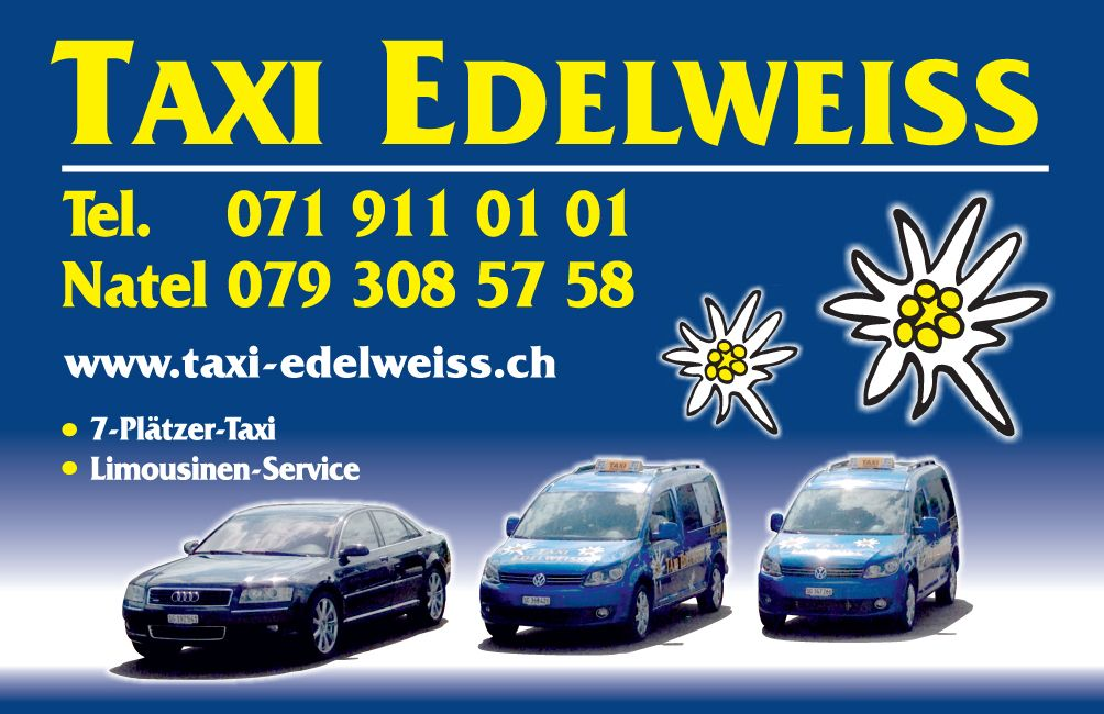 taxi limousinenservice - wil, münchwilen, sirnach - taxi edelweiss